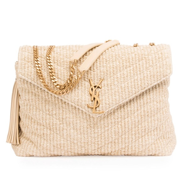d842e2cd1d26 Authentic Saint Laurent like new beige raffia bag.  M 5c59d36a8ad2f9957ae1d655